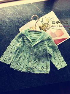 Cute Baby's Crochet Sweater Free Chart