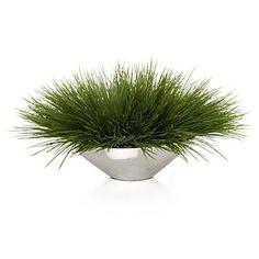 Grass In Silver Pot | Floral | Accessories | Z Gallerie