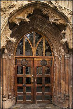 St. Mary's door by vcrimson, via Flickr ~ Sneinton, Nottingham, England,