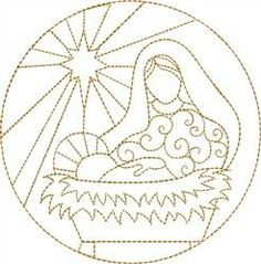 Nativity Mary & Jesus embroidery design embroidery patterns, christma