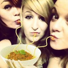 Thank You, Buzzfeed. This is all I have ever wanted in my life. | 11 Duckface Photos Fixed By Adding Spaghetti