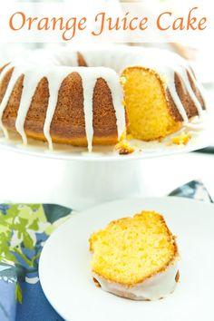Orange Juice Cake by EclecticRecipes.com #recipe