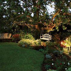 magical backyards, landscap light, landscape lighting trees, home exteriors, backyards landscaping, solar power, landscaping backyard ideas, backyard garden landscaping, landscaping lighting ideas