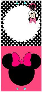 Kit Festa Minnie Rosa Preto e Pinkb invitation Minnie Mouse