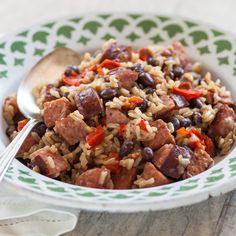 Smoky Beans & Rice with Sausage