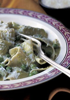 Pappardelle with Peas and Parmesan Recipe