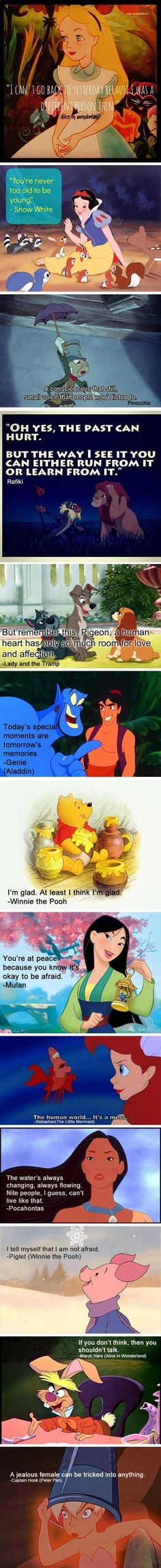 Disney movies quotes. Who knew we were getting so inspired as kids?