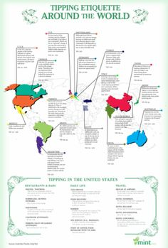 How much to tip, by country / via Lifehacker