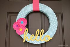 """hello"" summer wreath"