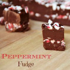 Candy Cane Layered Fudge
