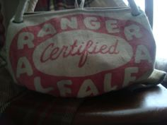 vintage feed sack purse  RANGER Certified ALFALFA Seed by ginnymae, $50.00