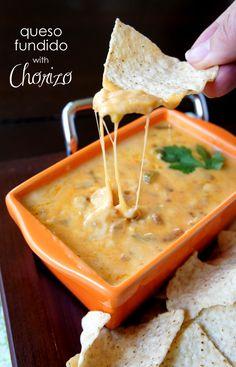 Queso Fundido with Chorizo
