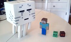 Awesome hand made Minecraft action figures