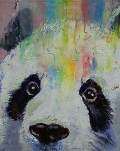 Panda Rainbow by Michael Creese #panda #oilpainting #michaelcreese