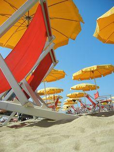 ~Beach sand and umbrellas~