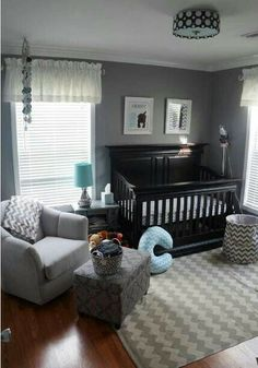 Boy nursery. Love this especially with a white crib