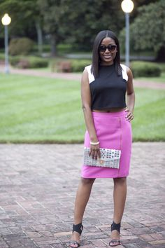 Designer Crop Top and pencil skirt from @marshalls.