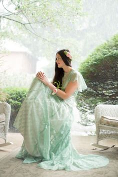Mint-colored lace gown from Maureen Patricia | Photo by Sounds Like Yellow