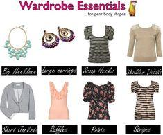 Pear body shape wardrobe essentials