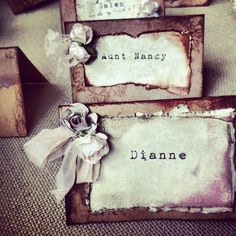 Wedding place cards tent card escort cards