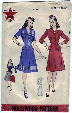 darling sailor pattern, 40s