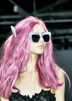 deeply considering lavender hair