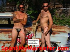 Richard Rawlings and Aaron Kaufman before Gas Monkey Garage