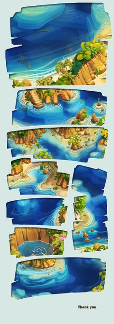 Pirate Legends TD Background 1 by Adrian Andreias, via Behance