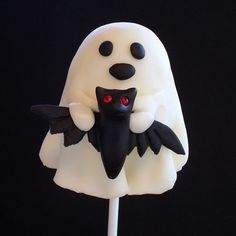 Ghostly Brownie Pops Tutorial  http://baking911.com/cookies/crafty-baker/ghostly-brownie-pops-tutorial