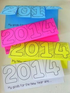 New Year Resolutions Tab book- Quick and easy writing activity for the New Year. FREEBIE!
