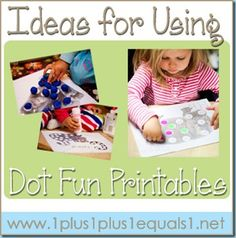 Ideas for Using Dot Fun Printables, from 1+1+1=1.