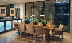 Contemporary dining room off the kitchen