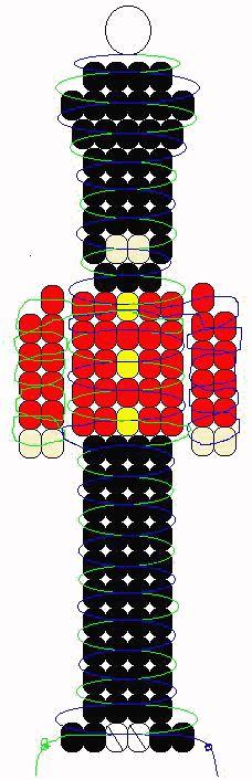 Royal Palace Guard beadie pattern