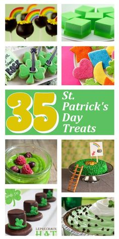 35 St. Patrick Day Sweet Treats. DIY Home Sweet Home.    I especially like the Rainbow Fruit platter which could be used anytime just by extending the rainbow to make concentric circles of fruit.