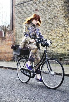 Celebrity Bike Style Florence Welch