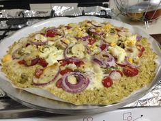 Pizza sem farelo ou tolerados. - Dieta Dukan Receitas -