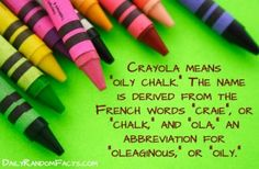 Did you know? Fun fact about Crayola's name!