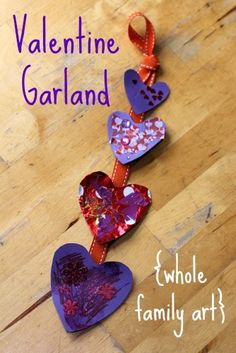 A great valentine craft for kids :: a whole family activity with a focus on gratitude.
