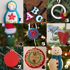 Link Love: Felt Christmas Ornaments