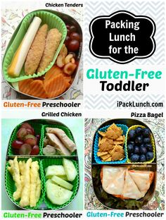 Healthy Gluten-free toddler lunches packed in @LunchBots containers