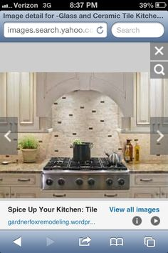 Idea for kitchen back splash
