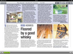 Article about Whisky Barrel Flooring in The Herald - Floored by a good Whisky