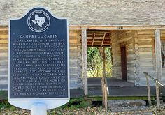 Campbell-Hoermann Log Cabin (1850) - Post-Civil War Texas was a land of opportunity due to a vast amount of farming & grazing land, coupled with the newly built railroads. Many immigrants came here to start a new and hopefully prosperous life. John Campbell, an immigrant from Ireland, built a one-room cabin that he later enlarged for his twenty-three family members when they came to Texas around 1850. Has interesting artifacts, including a 145 year-old quilt and a 1908 icebox. 211 E. Live Oak