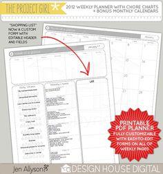 Great organizing printables