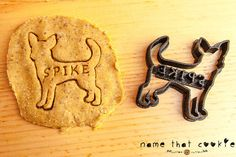 Custom Dog Treat Cookie Cutters  -from Name That Cookie