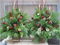 Christmas urns on Pinterest
