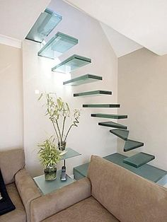 Classy glass stairs...
