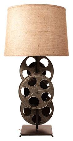 Original MGM movie reels lamp from local Calif artist