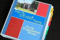 printable sheets to make your own family organization binder so you can have all of your important documents (shot records, emergency #s, school documents, etc).