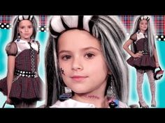 Frankie Stein Monster High Doll Costume Style Guide for Halloween! YouTube's cutest Monster High style guru, Emma of KittiesMama, shows off her scary-cute style ... Watch and get a coupon code to save $ 10!